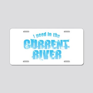 I Peed in the Current River Aluminum License Plate