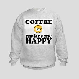 Coffee Makes Me happy Kids Sweatshirt