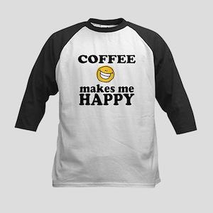 Coffee Makes Me happy Kids Baseball Jersey