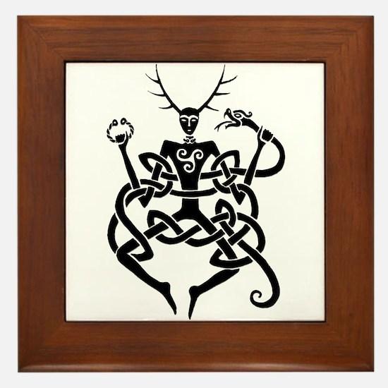 Cernunnos Framed Tile