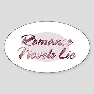Romance Novels Lie Oval Sticker