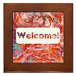 """""""Welcome"""" Framed Tile"""