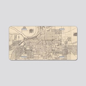 Vintage Map of Montgomery A Aluminum License Plate