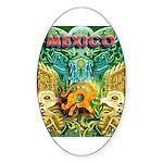 Totonac Mexico Oval Sticker