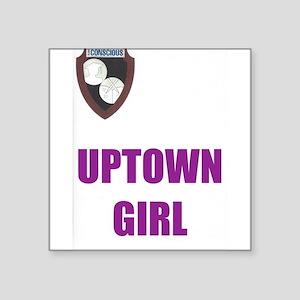 Uptown Girl-purple Sticker