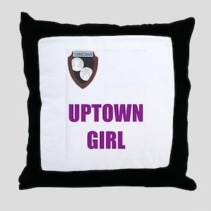 Uptown Girl-purple Throw Pillow