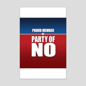 Proud Member Party of NO Mini Poster Print
