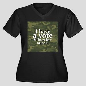 I have a VOTE Women's Plus Size V-Neck Dark T-Shir