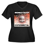 EXPERIMETAL Women's Plus Size V-Neck Dark T-Shirt
