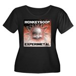 EXPERIMETAL Women's Plus Size Scoop Neck Dark T-Sh