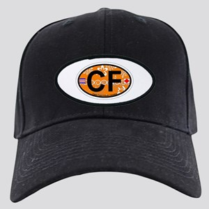 Cape Fear NC - Oval Design Black Cap
