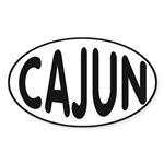 Cajun Zydeco Sticker (Oval 50 pk)