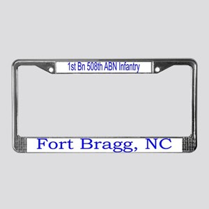 1st Bn 508th ABN License Plate Frame