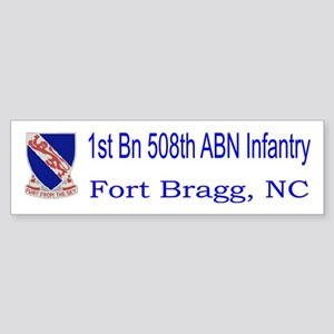1st Bn 508th ABN Sticker (Bumper)