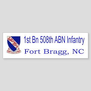 1st Bn 508th ABN Sticker (Bumper)