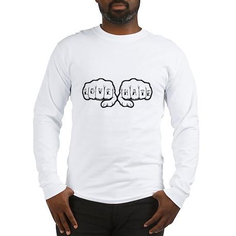 Love Hate Tattoo Fists Long Sleeve T-Shirt