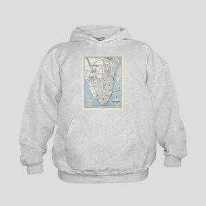 Vintage Map of Charleston South Carolin Sweatshirt