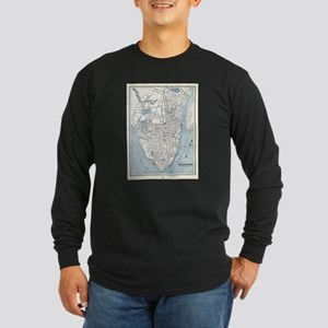 Vintage Map of Charleston Sout Long Sleeve T-Shirt