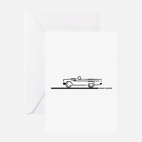 1957 Thunderbird Convertible Greeting Card