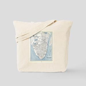 Vintage Map of Charleston South Carolina Tote Bag
