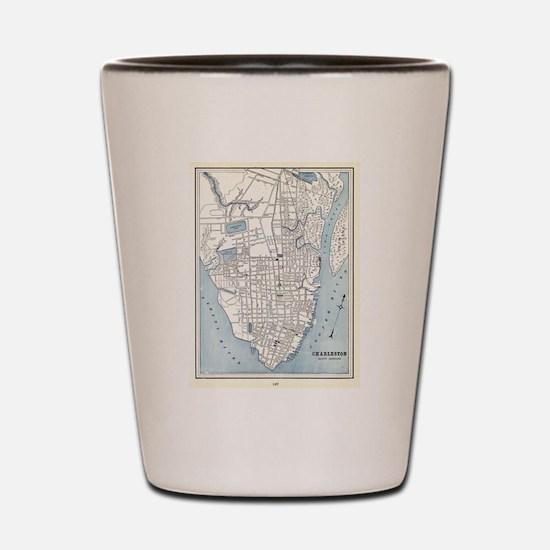 Vintage Map of Charleston South Carolin Shot Glass