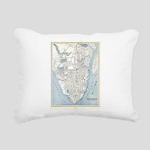 Vintage Map of Charlesto Rectangular Canvas Pillow