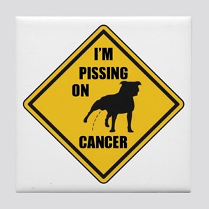 Piss On Cancer Tile Coaster