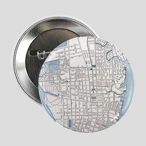 "Vintage Map of Charleston South Carol 2.25"" Button"