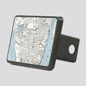 Vintage Map of Charleston Rectangular Hitch Cover