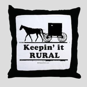Keepin' it rural ~  Throw Pillow