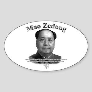 Mao Zedong 02 Oval Sticker