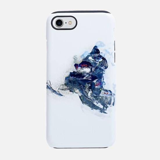 Flying Snowmobiler Jumping Thr iPhone 7 Tough Case