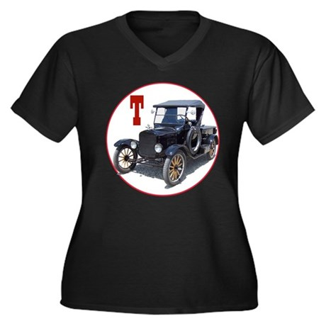 The T truck Women's Plus Size V-Neck Dark T-Shirt