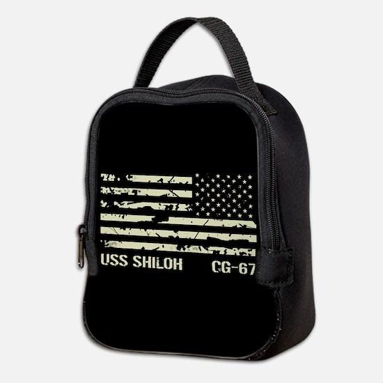 USS Shiloh Neoprene Lunch Bag