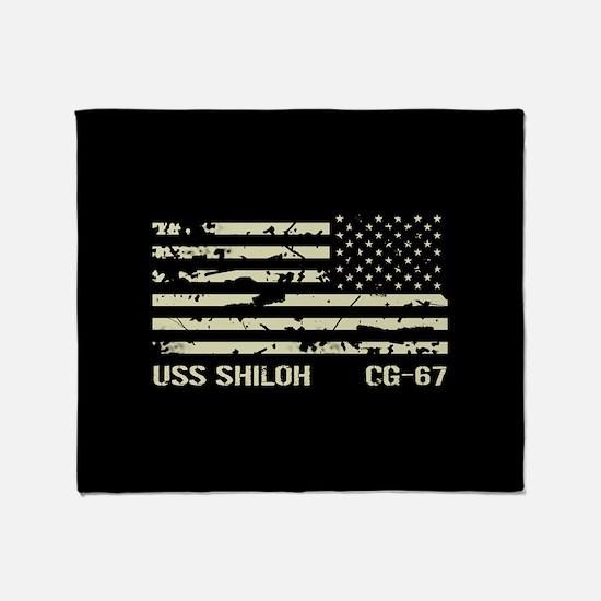 USS Shiloh Throw Blanket