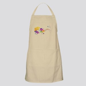 Colorful Cut Paper Flowers ferns and f Light Apron