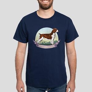 Welsh Springer Spaniel: Banne Dark T-Shirt