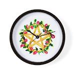 Floral Pentagram Wall Clock