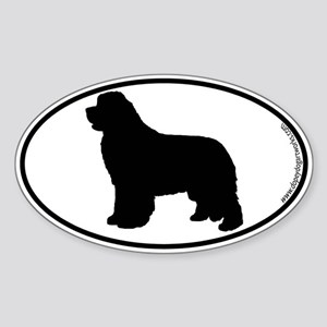 Newfoundland SILHOUETTE Oval Sticker