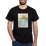 Daffodils Black T-Shirt