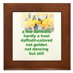 Daffodils Framed Tile