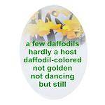 Daffodils Oval Ornament