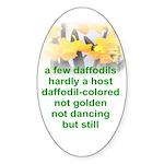 Daffodils Oval Sticker