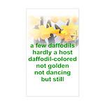Daffodils Rectangle Sticker