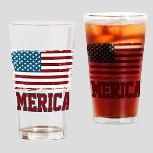 'Merica American America Drinking Glass