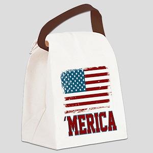 'Merica American America Canvas Lunch Bag