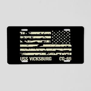 USS Vicksburg Aluminum License Plate