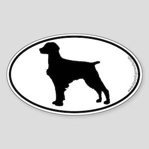 Brittany Spaniel SILHOUETTE Oval Sticker