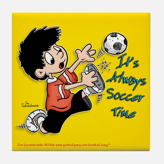 """""""Time for Soccer"""" Tile Coaster"""