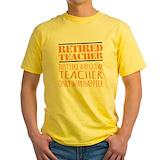Retired teacher Mens Classic Yellow T-Shirts
